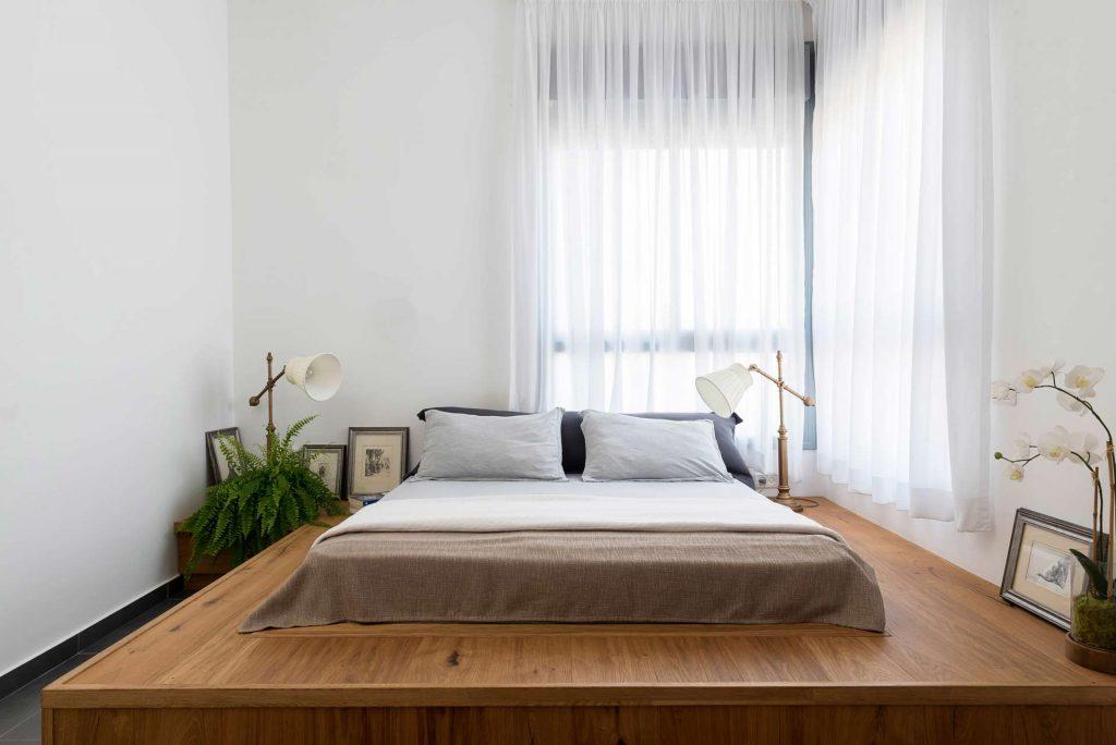 פרויקט עיצוב חדר שינה- 72 גג