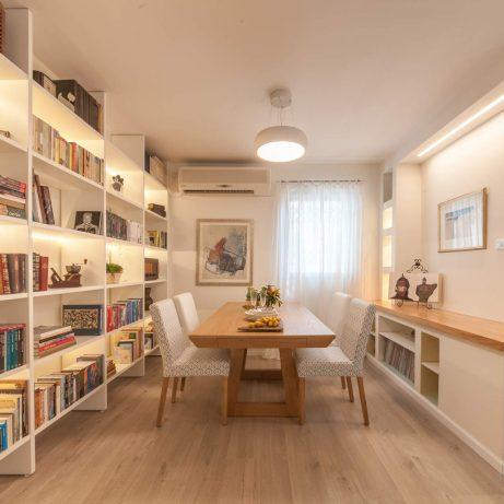 שיפוץ דירה חדר אורחים ברמת גן