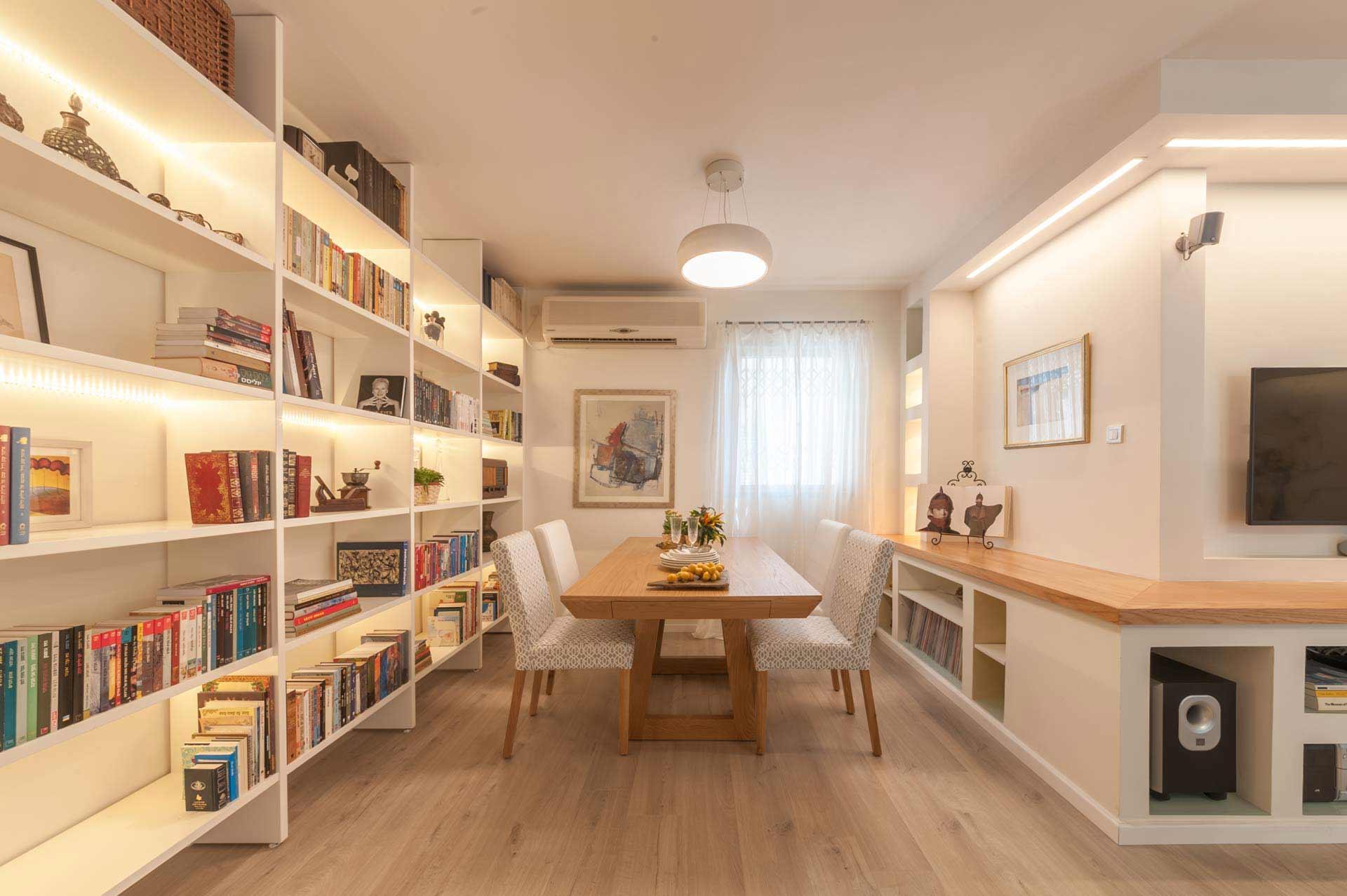 עיצוב חדר אורחים ברמת גן