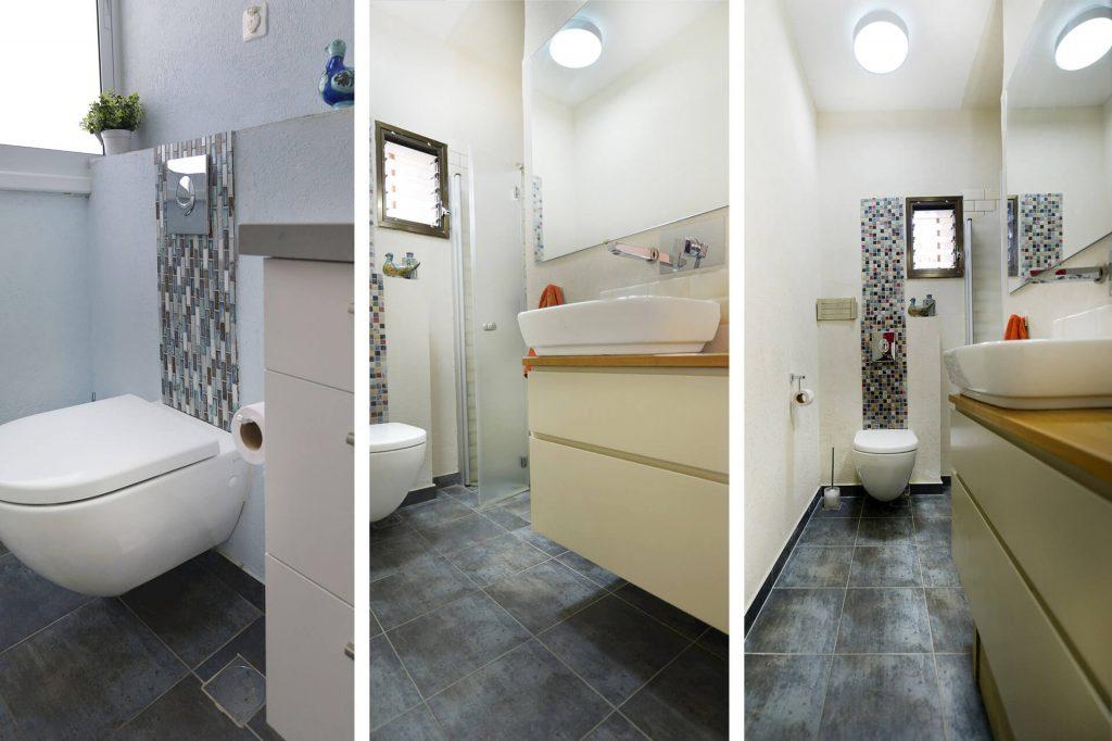 שיפוץ דירה בהרצליה - דופלקס - שירותים