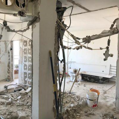 פינוי פסולת בנייה בסיום שיפוץ דירה