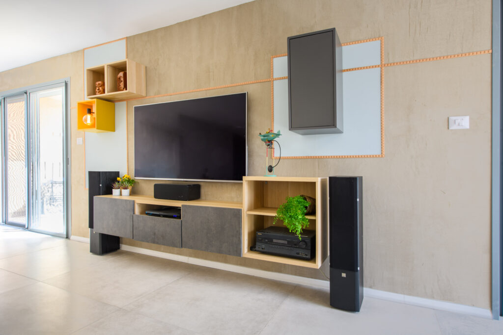 שיפוץ דירה בחולון - סלון